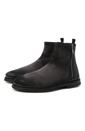 Мужские замшевые сапоги ALEXANDER HOTTO темно-серого цвета, арт. 58046/T0M/SENS0RY | Фото 1