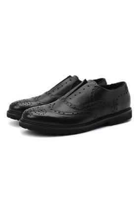 Мужские кожаные оксфорды ROCCO P. черного цвета, арт. 7019/ANTIK | Фото 1