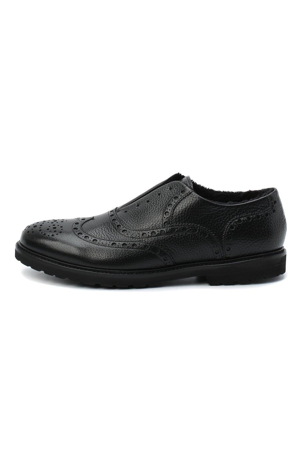 Мужские кожаные оксфорды ROCCO P. черного цвета, арт. 7019/ANTIK | Фото 3