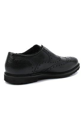 Мужские кожаные оксфорды ROCCO P. черного цвета, арт. 7019/ANTIK | Фото 4