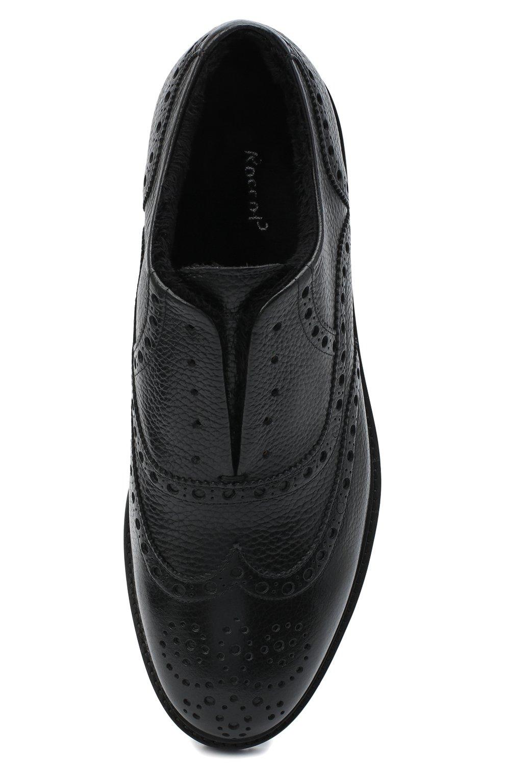 Мужские кожаные оксфорды ROCCO P. черного цвета, арт. 7019/ANTIK | Фото 5