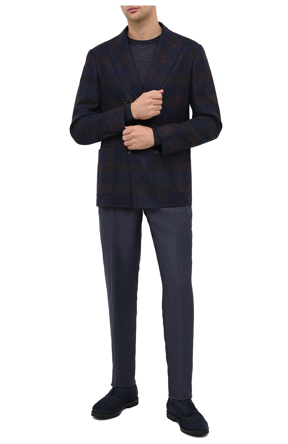 Мужские замшевые оксфорды ROCCO P. темно-синего цвета, арт. 7019/SENS0RY | Фото 2