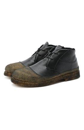 Мужские комбинированные ботинки ROCCO P. черного цвета, арт. 9300/ANTIK | Фото 1