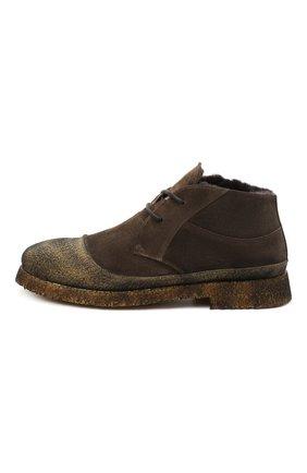 Мужские комбинированные ботинки ROCCO P. коричневого цвета, арт. 9300/SENS0RY   Фото 3