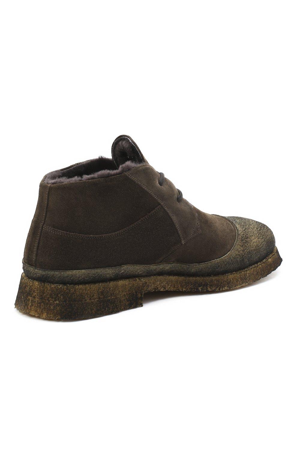 Мужские комбинированные ботинки ROCCO P. коричневого цвета, арт. 9300/SENS0RY   Фото 4