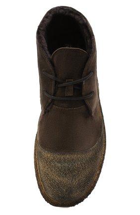 Мужские комбинированные ботинки ROCCO P. коричневого цвета, арт. 9300/SENS0RY   Фото 5