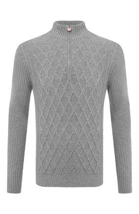 Мужской кашемировый свитер KITON серого цвета, арт. UK1125   Фото 1