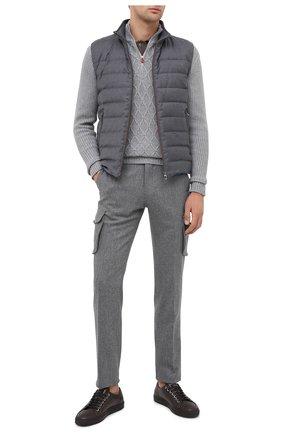 Мужской кашемировый свитер KITON серого цвета, арт. UK1125   Фото 2