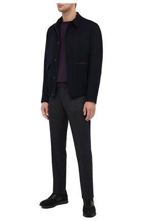 Мужской джемпер из кашемира и шелка SVEVO фиолетового цвета, арт. 0670SA20/MP06/2 | Фото 2