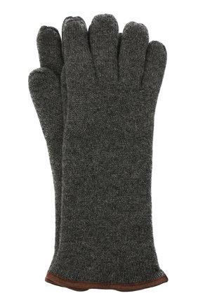 Мужские кашемировые перчатки SVEVO темно-серого цвета, арт. 0158USA20/MP01/2 | Фото 1