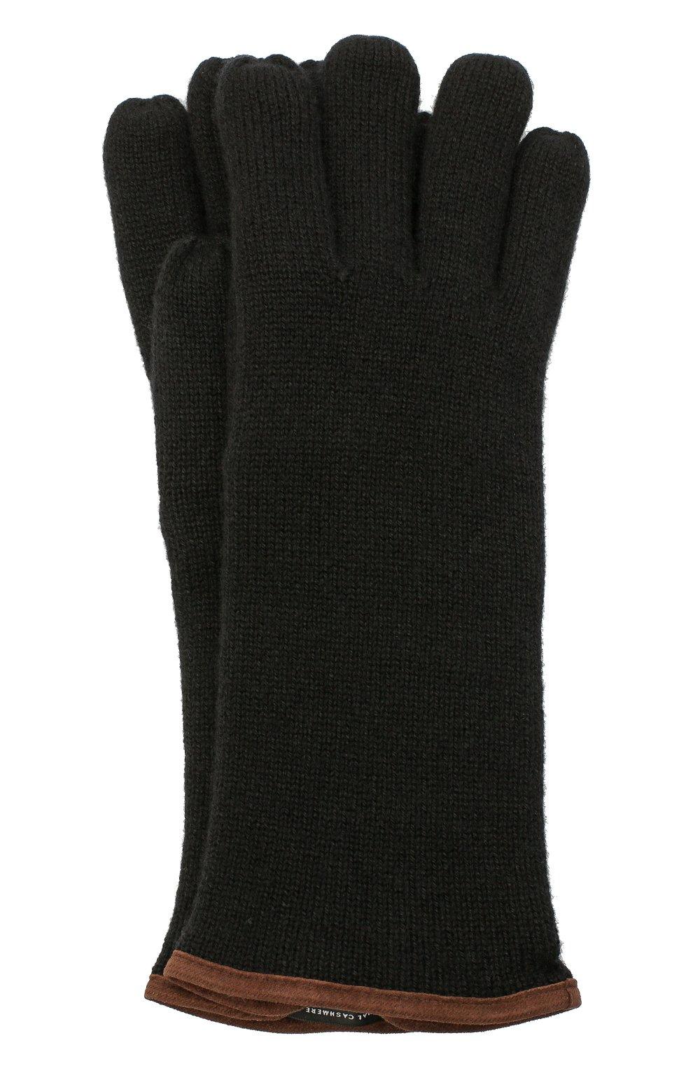 Мужские кашемировые перчатки SVEVO черного цвета, арт. 0158USA20/MP01/2   Фото 1