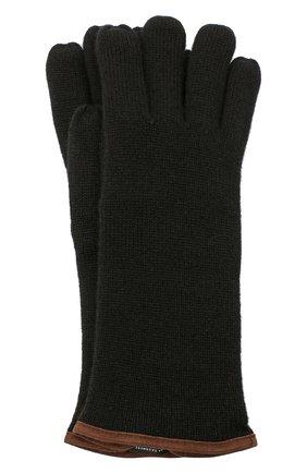Мужские кашемировые перчатки SVEVO черного цвета, арт. 0158USA20/MP01/2 | Фото 1