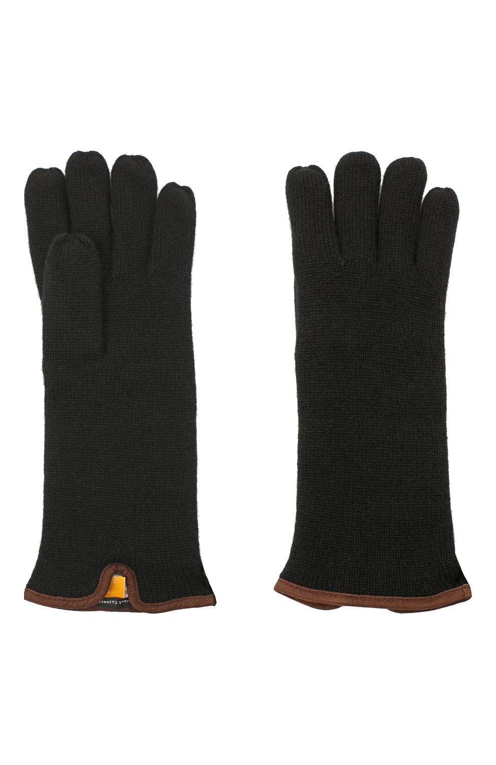 Мужские кашемировые перчатки SVEVO черного цвета, арт. 0158USA20/MP01/2   Фото 2