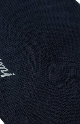 Мужские хлопковые носки BRIONI темно-синего цвета, арт. 0VMC00/P9Z02 | Фото 2