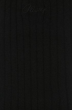 Мужские шерстяные носки BRIONI черного цвета, арт. 0VMC00/09Z01 | Фото 2
