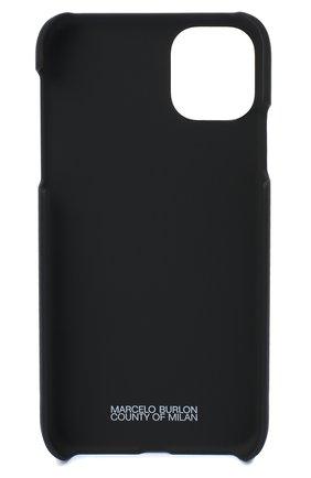 Мужской чехол для iphone 11 MARCELO BURLON черного цвета, арт. CMPA017E20MAT001 | Фото 2