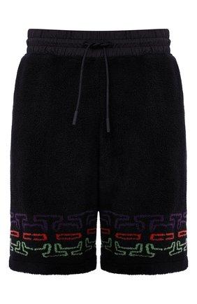 Мужские шорты MARCELO BURLON черного цвета, арт. CMCI010F20FAB001 | Фото 1