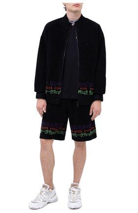 Мужские шорты MARCELO BURLON черного цвета, арт. CMCI010F20FAB001 | Фото 2