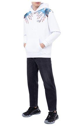 Мужской хлопковое худи MARCELO BURLON белого цвета, арт. CMBB007F20FLE010 | Фото 2