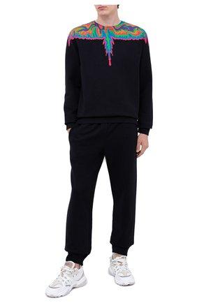 Мужской хлопковый свитшот MARCELO BURLON черного цвета, арт. CMBA009F20FLE002   Фото 2
