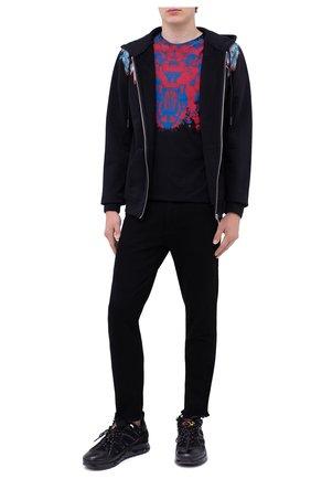 Мужская хлопковая футболка MARCELO BURLON черного цвета, арт. CMAA018F20JER015   Фото 2