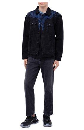 Мужская хлопковая футболка MARCELO BURLON черного цвета, арт. CMAA018F20JER011   Фото 2