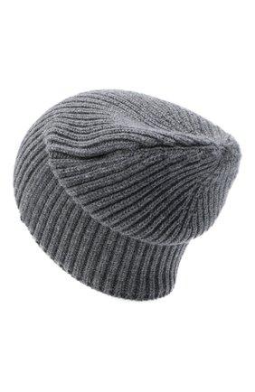 Мужская кашемировая шапка FEDELI серого цвета, арт. 3UI07302 | Фото 2