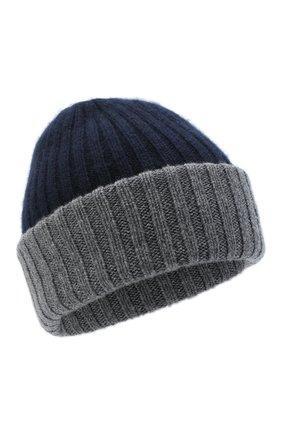 Мужская кашемировая шапка FEDELI темно-синего цвета, арт. 3UI07305 | Фото 1