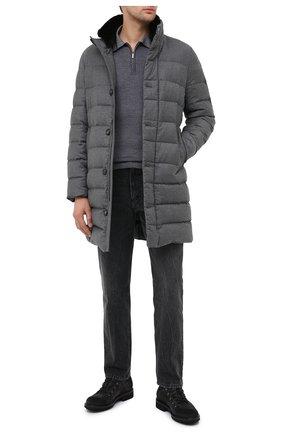 Мужская пуховик nettuno-l MOORER серого цвета, арт. NETTUN0-L/A20M121LANA | Фото 2