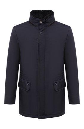 Мужская пуховая куртка bernier-ads MOORER темно-синего цвета, арт. BERNIER-ADS/A20M240AMED | Фото 1