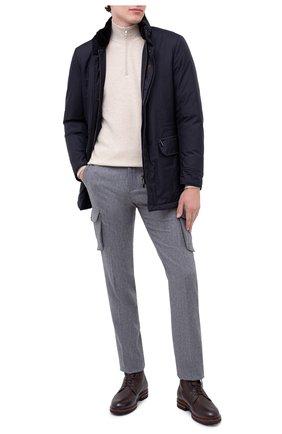 Мужская пуховая куртка bernier-ads MOORER темно-синего цвета, арт. BERNIER-ADS/A20M240AMED | Фото 2