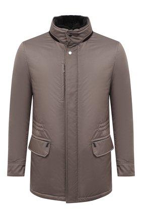 Мужская пуховая куртка bernier-ads MOORER серого цвета, арт. BERNIER-ADS/A20M240AMED | Фото 1