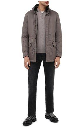 Мужская пуховая куртка bernier-ads MOORER серого цвета, арт. BERNIER-ADS/A20M240AMED | Фото 2