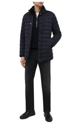 Мужская пуховая куртка grecale-s3 MOORER темно-синего цвета, арт. GRECALE-S3/A20M520REFL | Фото 2