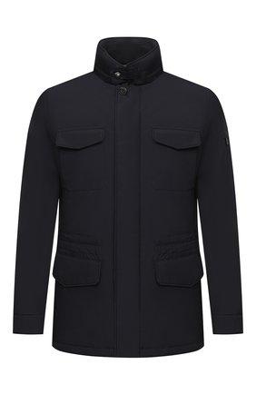 Мужская пуховая куртка leonardo-stp MOORER темно-синего цвета, арт. LE0NARD0-STP/A20M460ST0P | Фото 1