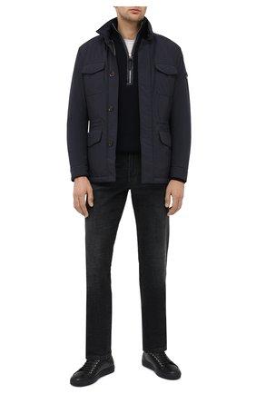 Мужская пуховая куртка leonardo-stp MOORER темно-синего цвета, арт. LE0NARD0-STP/A20M460ST0P | Фото 2