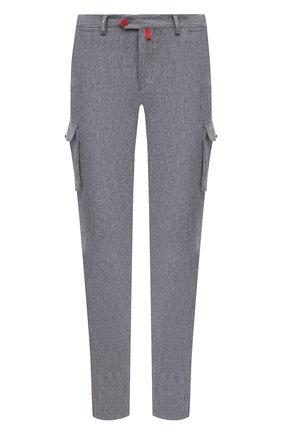 Мужские шерстяные брюки-карго KITON серого цвета, арт. UFPPCAK01T88   Фото 1