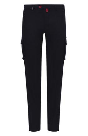 Мужские шерстяные брюки-карго KITON черного цвета, арт. UFPPCAK01T88   Фото 1