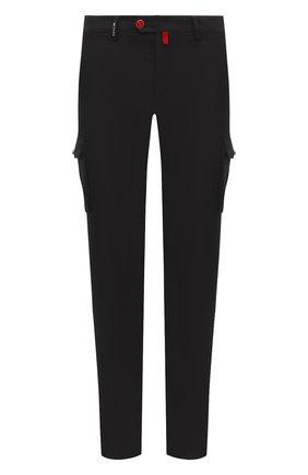 Мужские шерстяные брюки-карго KITON темно-коричневого цвета, арт. UFPPCAK01T88 | Фото 1 (Материал подклада: Купро; Длина (брюки, джинсы): Стандартные; Материал внешний: Шерсть; Силуэт М (брюки): Карго; Случай: Повседневный; Стили: Кэжуэл)