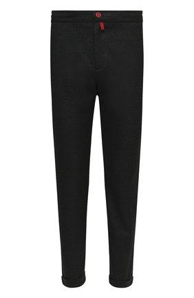 Мужской шерстяные брюки KITON темно-зеленого цвета, арт. UFPLACK01T52 | Фото 1