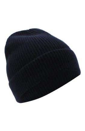 Мужская кашемировая шапка LUCIANO BARBERA темно-синего цвета, арт. 109L82/54125 | Фото 1