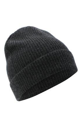 Мужская кашемировая шапка LUCIANO BARBERA серого цвета, арт. 109L82/54125 | Фото 1