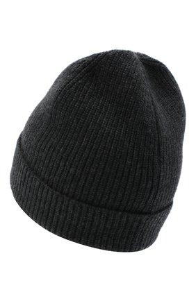 Мужская кашемировая шапка LUCIANO BARBERA серого цвета, арт. 109L82/54125 | Фото 2