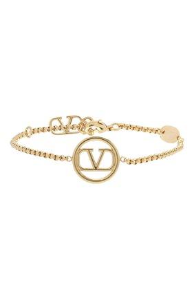 Женская браслет valentino garavani vlogo VALENTINO золотого цвета, арт. UW2J0F89/MET   Фото 1