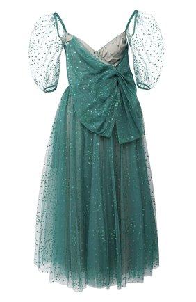 Женское платье-миди REDVALENTINO зеленого цвета, арт. UR3VAS80/564 | Фото 1
