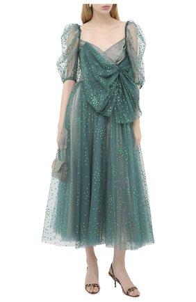 Женское платье-миди REDVALENTINO зеленого цвета, арт. UR3VAS80/564 | Фото 2