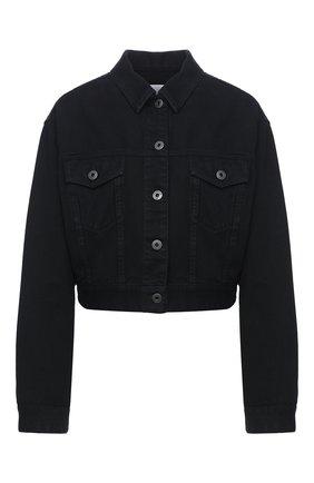 Женская джинсовая куртка VALENTINO черного цвета, арт. UB3DC01X45J | Фото 1