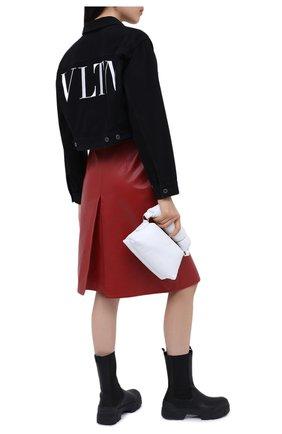 Женская джинсовая куртка VALENTINO черного цвета, арт. UB3DC01X45J | Фото 2