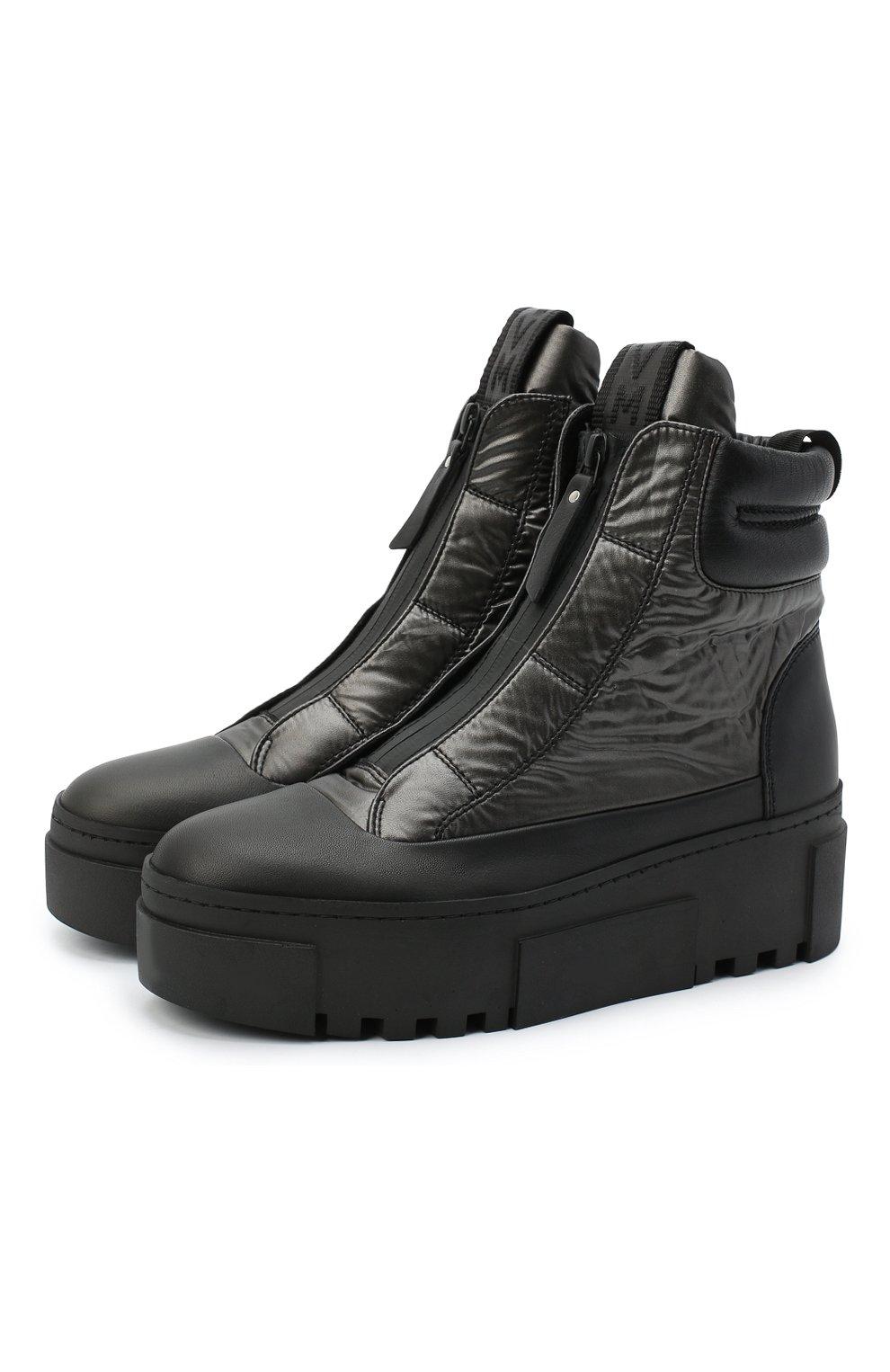 Женские комбинированные ботинки VIC MATIE черного цвета, арт. 1Y5038D.T16TZ0T330 | Фото 1