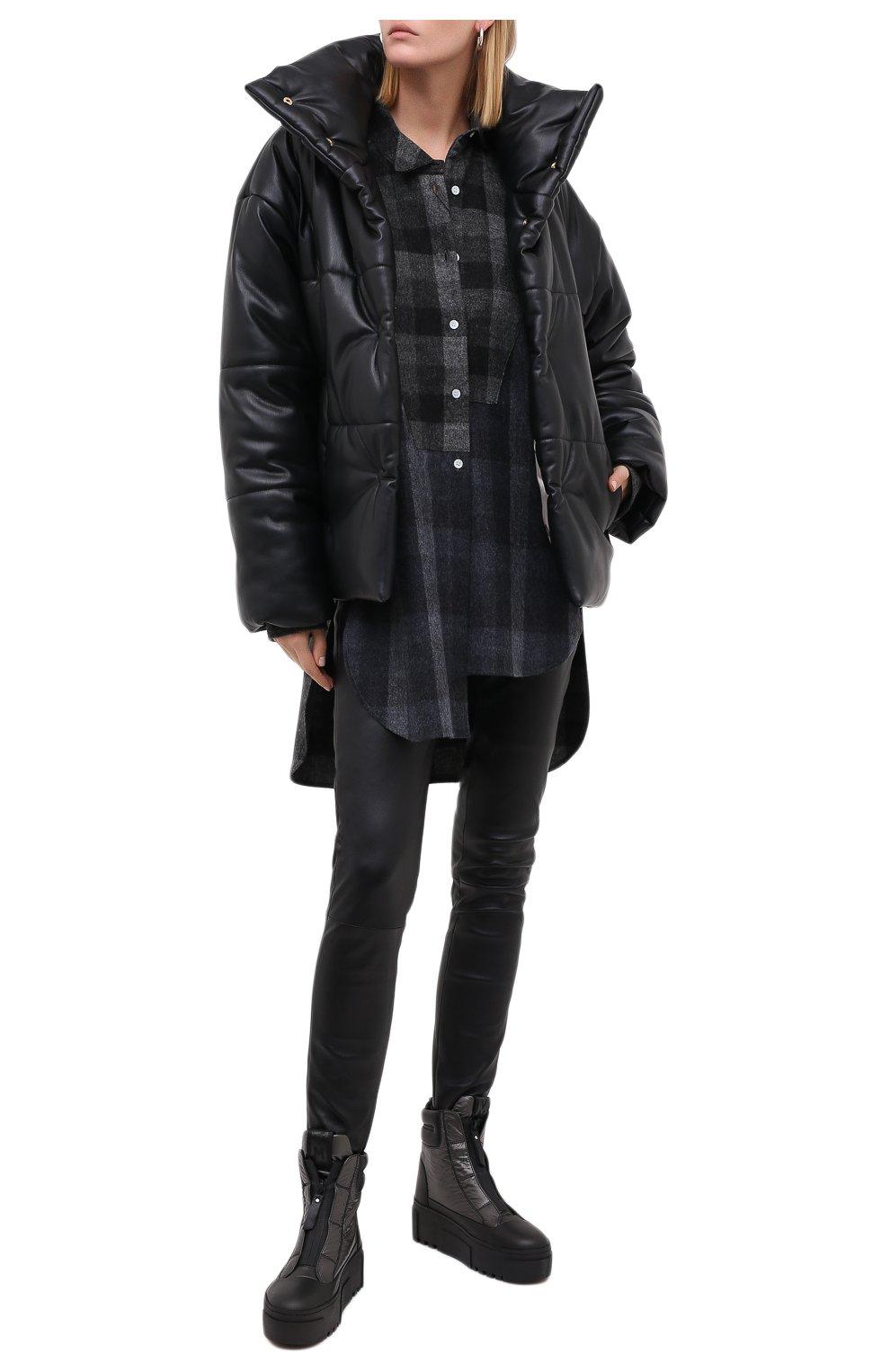 Женские комбинированные ботинки VIC MATIE черного цвета, арт. 1Y5038D.T16TZ0T330 | Фото 2